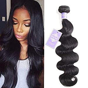 Sayas Hair 10A Grade Brazilian Body Wave Human Hair Bundles Weave Hair Human Bundles Brazilian Virgin Hair (8 Inch, Only 1 Bundle)
