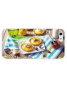 3d Full Wrap Case for iPhone 5/5s Food And Drink Tarts Dessert Lemon Citrus Fruit Cream Milk Honey Spoon Plate Food