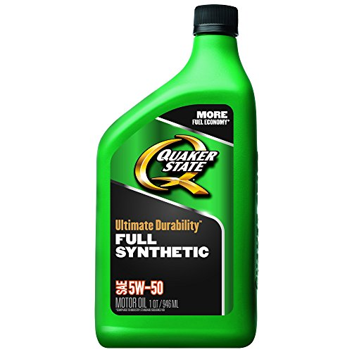 Quaker State Ultimate Durability 5W-50 Full Synthetic Motor Oil - 1 Quart (Pack of 6)