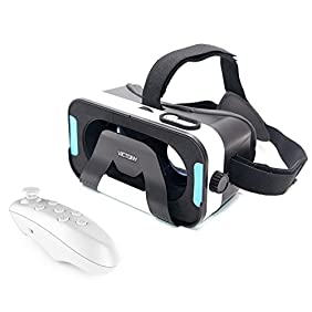 VICTONY 3D VR headset, 3D virtual reality Glasses Movie Game0id ,Microsoft& PC phones Series within 4.5-6.0inches.(V-ZB)