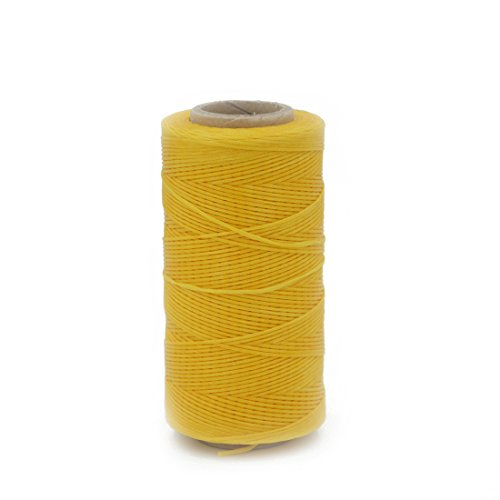 1pcs Yellow Cord Waxed Thread Wax Diy Bracelet Jewelry 285 Yards Linen Spool Leather craft Thick