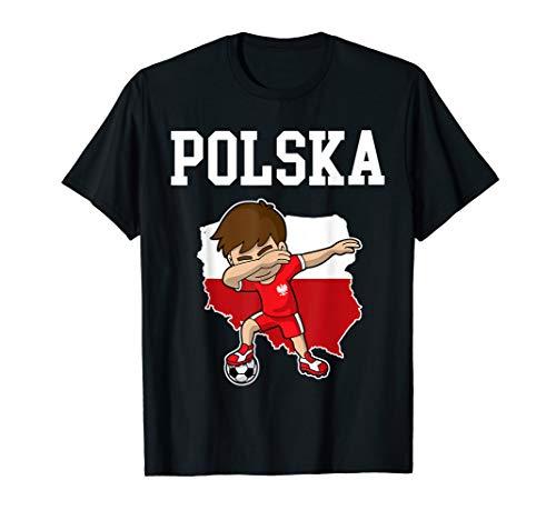Polska Soccer T-Shirt Poland Polish Dabbing Shirt ()