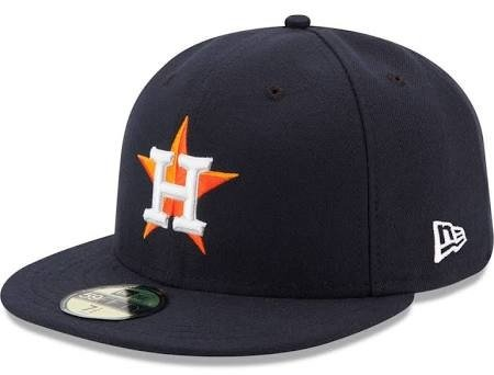fan products of New Era 59FIFTY Houston Astros Navy MLB 2017 Authentic Collection On Field Home Fitted Cap Size 7 1/2