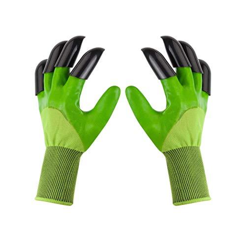 Garden Genie Gloves, Claws Garden Gloves for Digging Planting, Best Gardener and Women Gifts. (Dark Green)