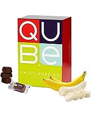 Swiss-QUBE Dieet reep voor het afvallen van bane, afnemingsproduct op natuurlijke basis met bananensmaak, 56 stuks weekrantsoen (1,57 kg)