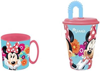 Minnie mouse, Taza apta para microondas y vaso.: Amazon.es: Hogar