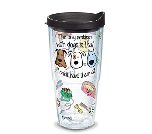 (Tervis 1304987 Project Paws Dog Iheartdogs Problems Tumbler with Black Lid, 24 oz, Clear)