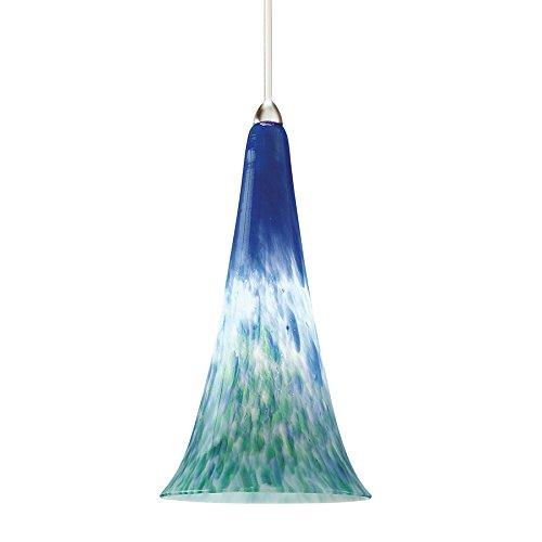 (WAC Lighting MP-614-BG/BN Passion 1 Light Canopy Pendant, Halogen/Xenon, Blue Green/Brushed Nickel)