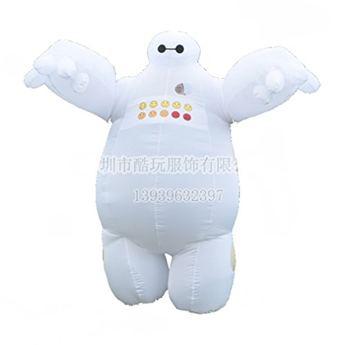 [Baymax Mascot Adult Inflatable Big Hero 6 Fantasia cosplay costumes Funny Dress] (Custom Inflatable Costumes)