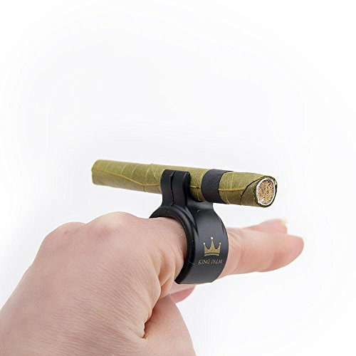 Smoke Ring, Universal Silicone Design, Holds Cigarettes, King Palm Rolls, and More! (Black)