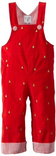 Mud Pie Baby-girls Infant Embroidered Tree Overalls