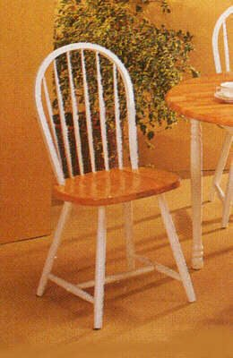 amazon com set of 4 natural solid wood windsor style dining chairs
