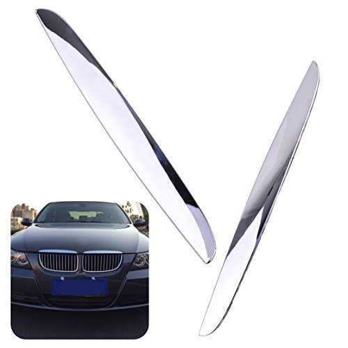 CITALL 2pcs Chrome Plated L&R Hood Trims Above Kidney Grille Fit for BMW E90 E91 325i 330i 328i 2006-2008 (Fulfilled by Amazon) ()