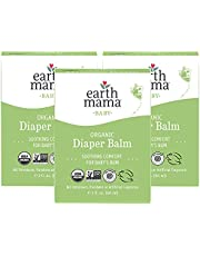 Organic Diaper Balm by Earth Mama | Safe Calendula Cream to Soothe and Protect Sensitive Skin, Non-GMO Project Verified