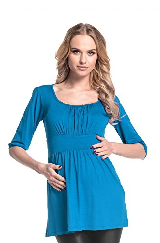 Ciano shirt Blusa Donna Happy Top Premaman Maternity 940p Mama Tunic T Comodissimo xP0H0Uq4w