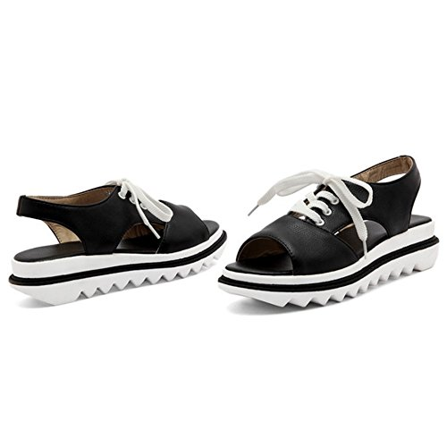 Black Cordones Coolcept Coolcept Sandalias Mujer Mujer xpqavwYY