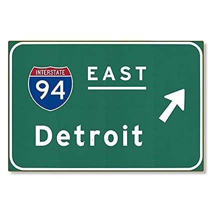 Amazon com: I-94 Interstate Detroit Michigan mi METAL