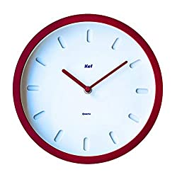 The Kef Clock by Marksson | Non Ticking Silent, 10 Inch Quartz Wall Clock for Home, Office, School, Living Room, Kitchen, Bedroom - Battery Operated Round Modern Contemporary Clock