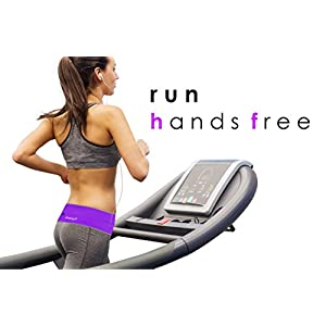 YesBelt #1 REVERSIBLE Running Belt and Waist Pack w ZIPPER - Better than Cell Phone Sports Armband - iPhone 6 Plus - Best Travel Money Belt - Stylish Fitness Zip 'n Flip Band for Workout - Purple XS