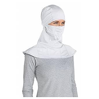 Coolibar UPF 50+ Unisex Sun Mask - Sun Protective (X-Small- White)