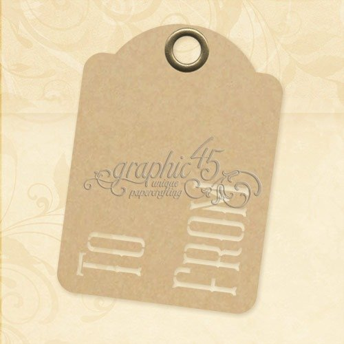 Graphic 45 to & from-ATC Kraft Tags