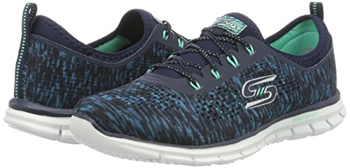 Glider Deep Space, Sneakers Basses Femme, Noir (BKMT), 37 EUSkechers