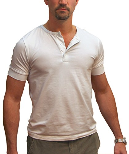 Magnoli Clothiers 3-Button Henley Tee Shirt Large - Ryan Gosling With Off Shirt