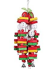 Basage Vogel kauwen speelgoed grote middelgrote papegaai kooi bijt speelgoed Afrikaanse grijze ara kaketoos Eclectus,