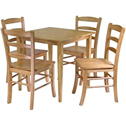 Winsome Groveland 5-Piece Wood Dining Set, Light Oak Finish