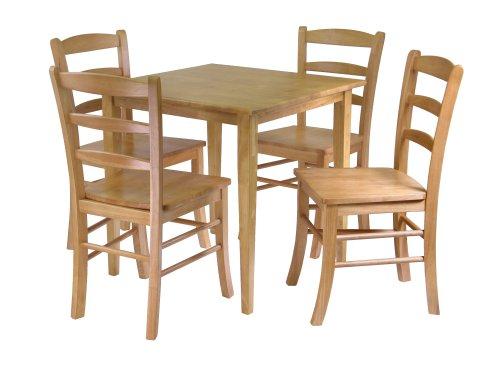 Winsome Groveland 5-Piece Wood Dining Set, Light Oak Finish