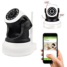 Coolcam HD 720P, WiFi IP Network Camera, Wireless, Video Monitoring, Surveillance, Security Camera, Plug/Play, Pan/Tilt with 2-Way Audio and Night Vision IR Camera