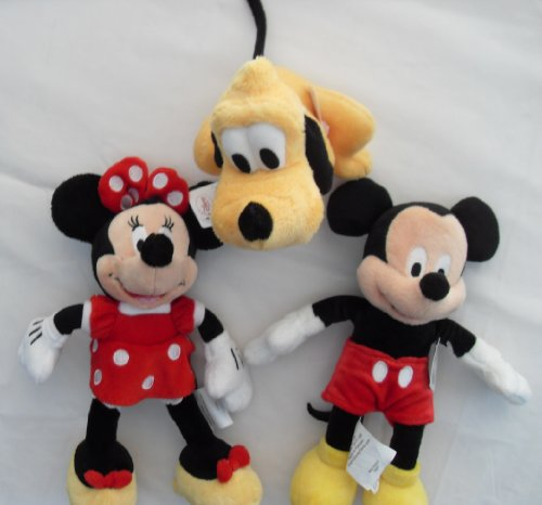 DISNEY FRIENDS, SET OF 3, 9'' MICHEY, MINIE AND - 9' Friends Plush