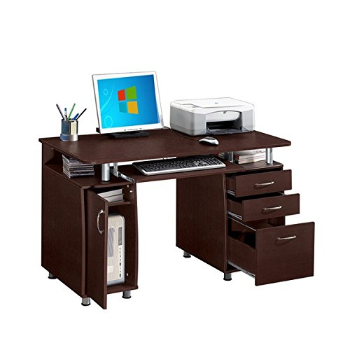 "Modern Designs Multifunctional Office Desk with File Cabinet (30"" high x 48"" long x 24"" deep)"