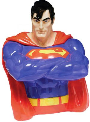 Superman Ceramic Cookie Jar Limited Edition by Vandor