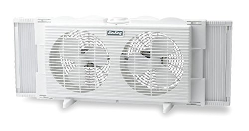 Air King 9137 Twin Table Window Fan With EZ Click Exper P...