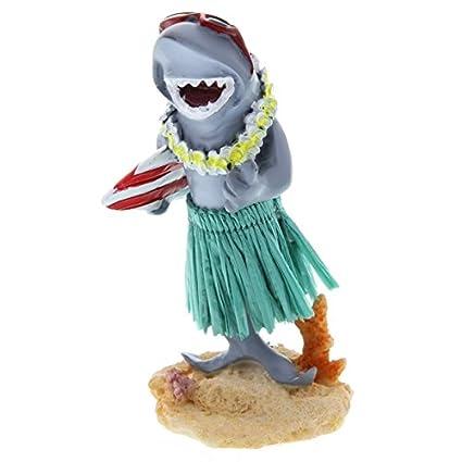 Hawaiian salpicadero en Miniatura muñeca Shark con Tabla de Surf