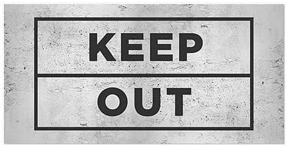 Keep Out Basic Gray Window Cling CGSignLab 24x12 5-Pack