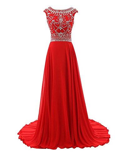 Senza maniche Vestito Donna Mall Rosso Bridal wqEOAW8R