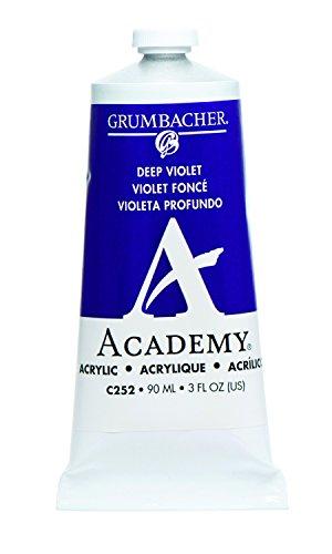 Grumbacher Academy Acrylic Paint, 90ml/3 oz Metal Tube, Deep (Acrylic Deep Violet)