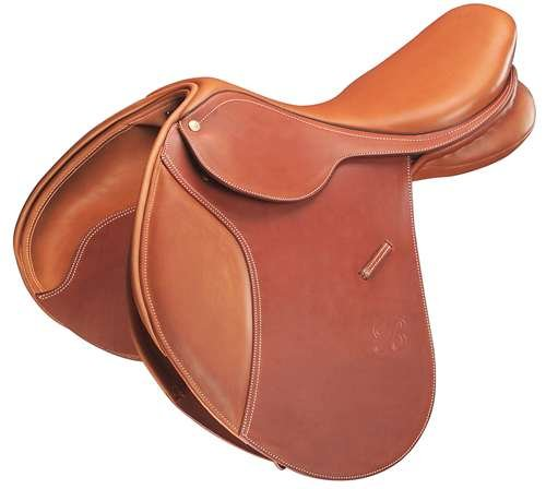 Bates Caprilli Close Contact Saddle - Havana Brown, 16.5