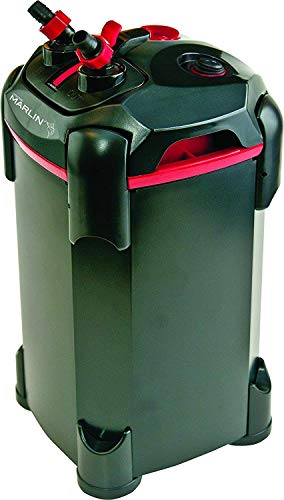 Penn Plax Cascade Marlin Versatile Aquarium Canister Filter, 370 GPH, for Aquariums Up to 100 Gallons