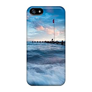 New Arrival Covers Cases With Nice Design For Iphone 5/5s- Sea Pier At High Tide