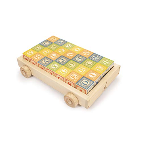 ABC Blocks with Wagon - Made in USA ()