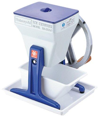 Primera-nieve-trituradora-de-hielo-manual-de-HA-1700-azul-Japn-importacin-El-paquete-y-el-manual-estn-escritos-en-japons