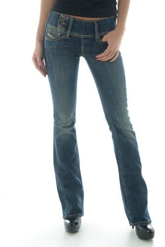 Diesel Blue Women's Cherock Slim Boot Cut Jeans (25 Long 32)