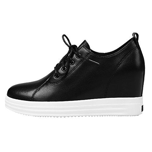Véritable Lacer Talon de Chaussures Cuir Compensé Caché Jamron Sport Super Doux Baskets Femmes RPqxPX8I
