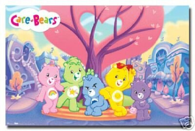 Care Bears Poster Love Rare Hot New 24x36