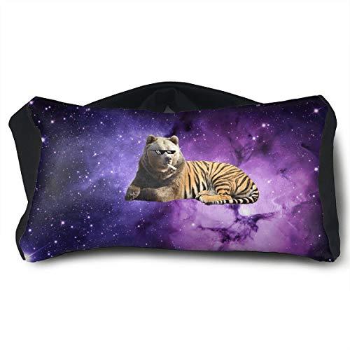 BANZUO-XIN Tiger Black Star Comfortable Travel Pillow Goggles, Portable Ergonomic Rest Pillows, Nap Versatile for Unisex