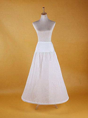 PJ Sottogonna sposa sottoveste da sposa abito da ballo petticoat Crinolina sottoveste bianca Lycra 1-cerchio