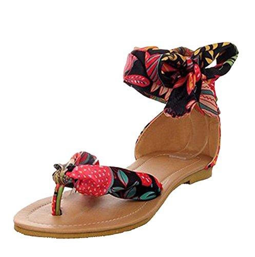 Insun - Sandalias de vestir de Material Sintético para mujer Negro - negro
